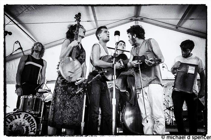 Spirit Family Reunion onstage at Newport Folk Festival. // Photo credit: Michael D. Spencer